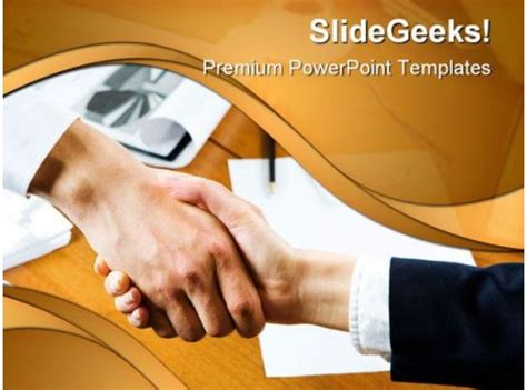 agreement business handshake powerpoint templates