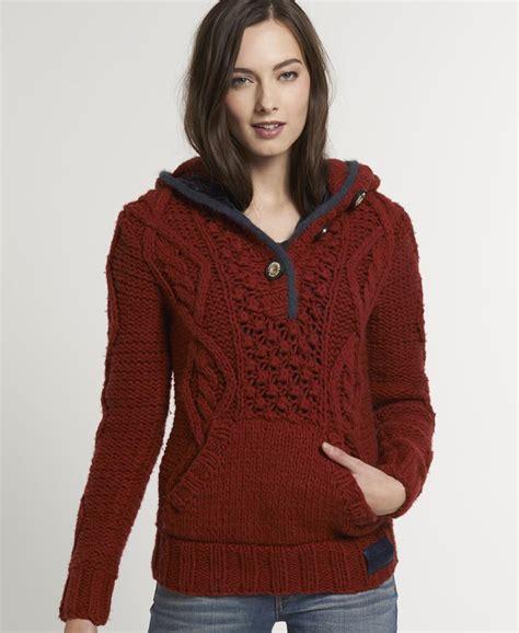knit hoodie new womens superdry verbier knit hoodie kvh ebay