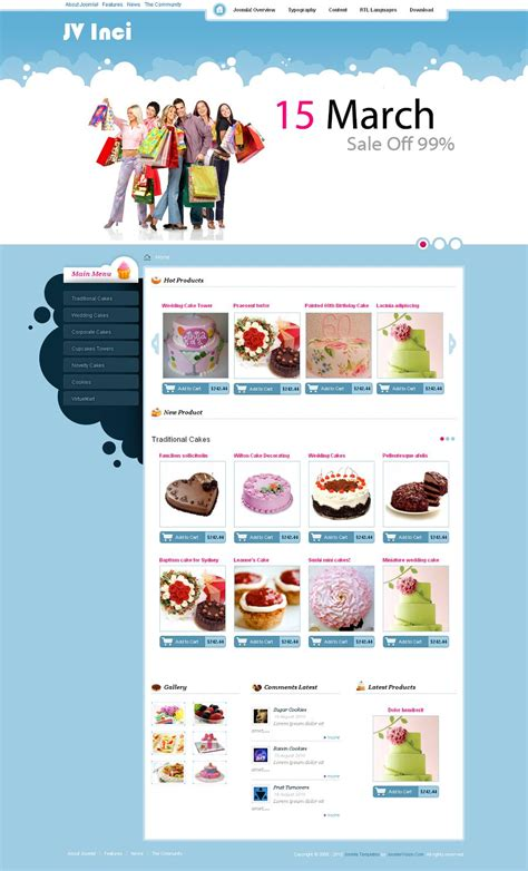 jv inci premium joomla ecommerce shopping cart template