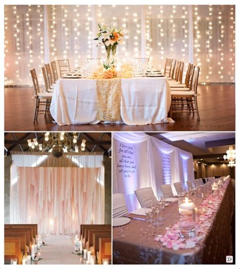 Rideau Lumineux Mariage by Decoration Salle Mariage Cacher Un Mur