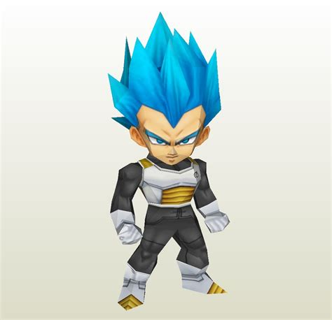 Vegeta Papercraft - papercraft pdo file template for chibi