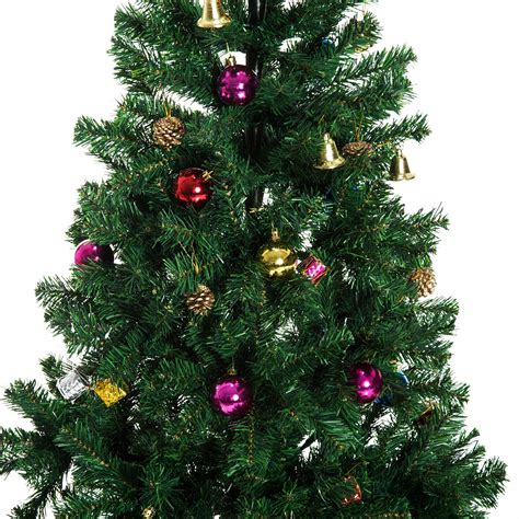 homcom christmas tree control homcom 6ft decorated tree winter seasonal indoor outdoor artificial green