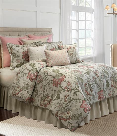 veratex bedding veratex rosario floral jacquard comforter set dillards