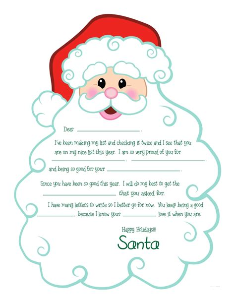 printable santa pictures free search results for free printable letters from santa