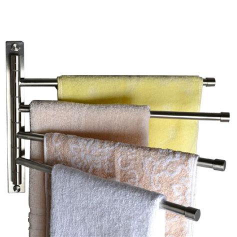 stainless steel swing out pantry kes swivel towel bar sus 304 stainless steel 4 arm