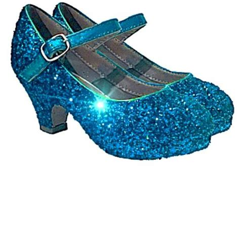turquoise flower shoes sparkly glitter heels flower birthday pageant shoes