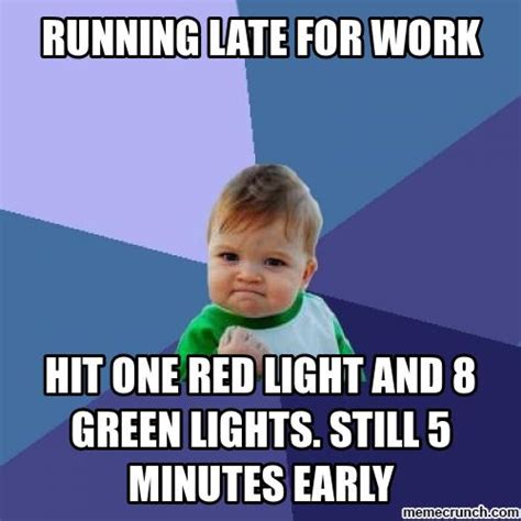 running late for work