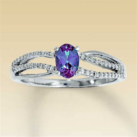 sterling silver lab created alexandrite ring