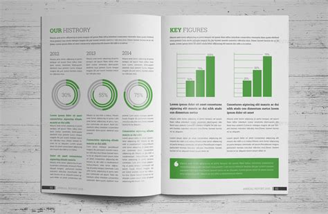 annual report brochure indesign template v2 by janysultana