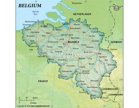 belgium political map buy belgium political map green