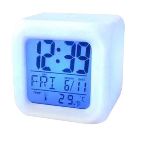 Jam Alarm Led jual jam meja jam hiasan digital alarm led dengan 7 perubahan warna lu unik harga