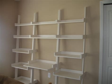 Ladder Shelves And Desk By Willinthemill Lumberjocks Ladder Desk With Shelves