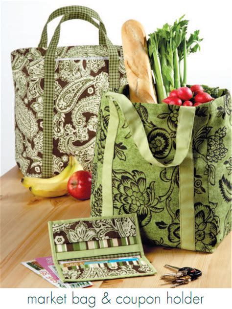 pattern for fabric grocery bags market bag coupon holder patterns patternpile com