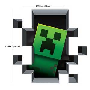 Minecraft Stickers For Walls J Nx Minecraft Wall Clings Creatures 4 Pack Clothing