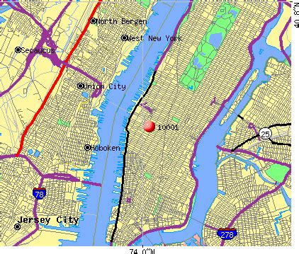 Ny City Zip Code Map by Zip Codes Manhattan New York Map
