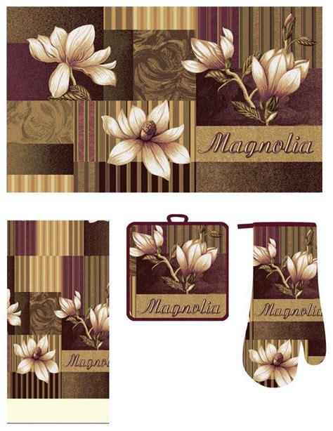 Kitchen Mat Sets casual kitchen accessory printed mat towel oven mitt pot holder 4 pcs rug set ebay