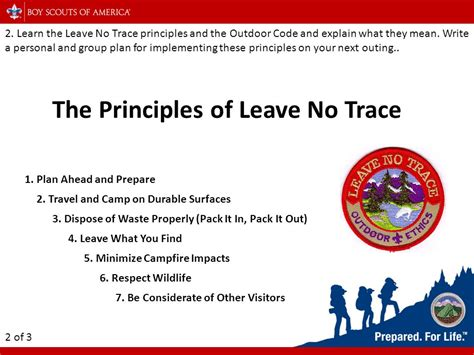 Leave No Trace In The Outdoors troop 39 cing merit badge ppt