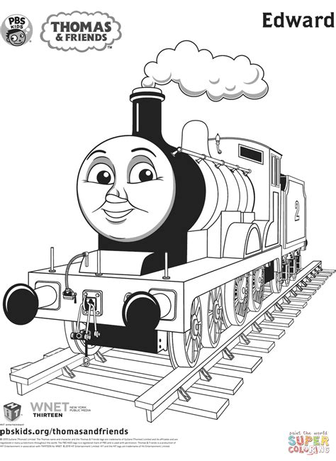 thomas birthday coloring pages edward from thomas friends coloring page free