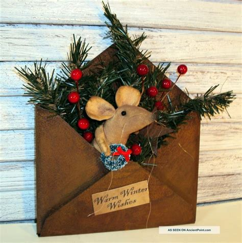 primitive christmas crafts to make primitive mice creations primitive folk handmade country mouse doll tin