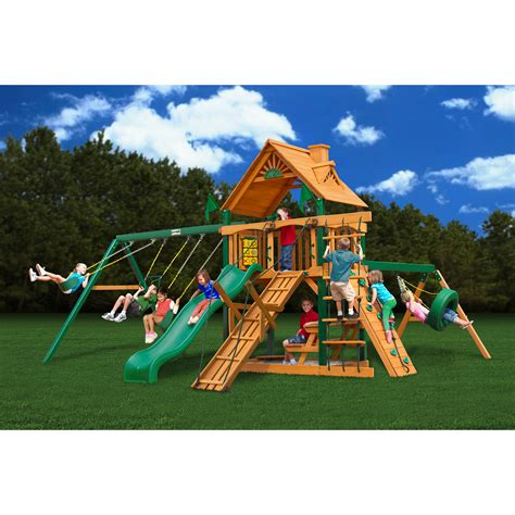 backyard wooden swing set backyard swing sets walmart neaucomic com