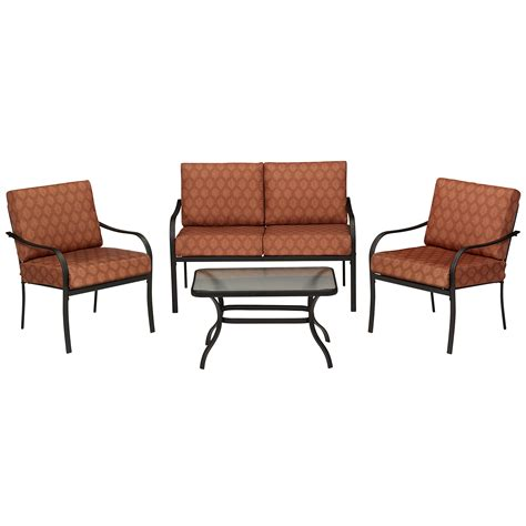 Bailey 4 Piece Seating Set Terracotta Outdoor Living Casual Patio Furniture Sets