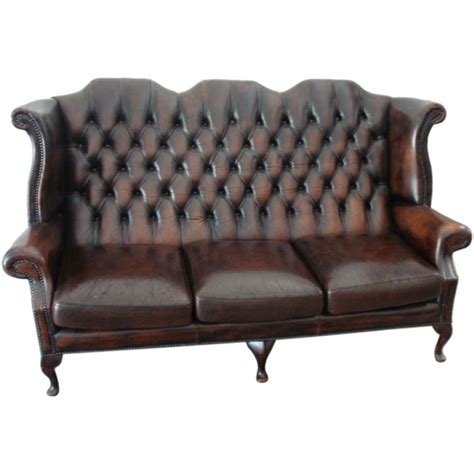 antique loveseat for sale antique english wing back leather sofa for sale at 1stdibs