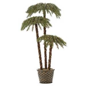 lighted artificial trees lighted palm living 6 potted caribbean palms