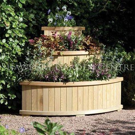 Wooden Cascade Planter by Rowlinson Marberry Cascade Corner Planter