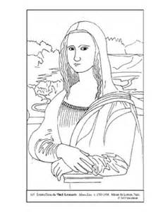 modern mona lisa colouring pages sketch template