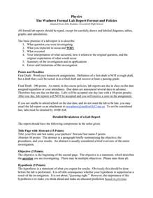 formal lab report template physics 7 formal lab report