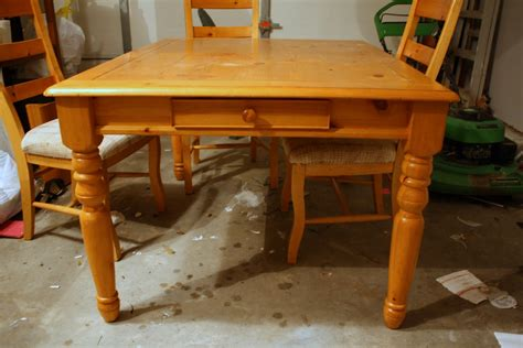 Refinished Kitchen Tables How To Refinish A Dining Room Table Marceladick