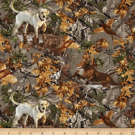 Realtree Quilting Fabric by Realtree Dogs In Woods Multi Discount Designer Fabric