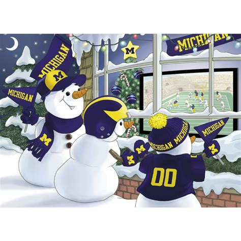 michigan christmas picture michigan wolverines cards the danbury mint