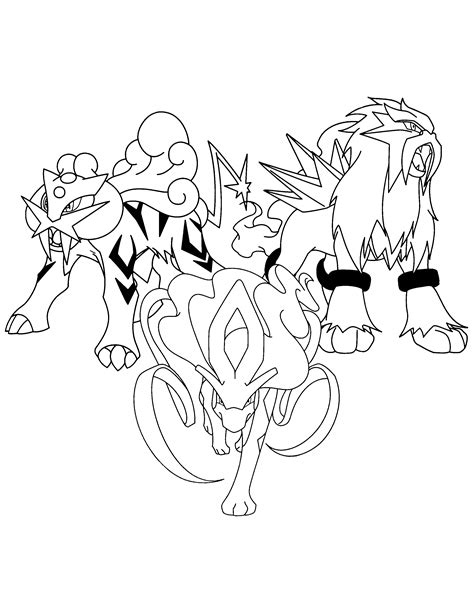 pokemon coloring pages raikou pokemon printables coloring pages suicune az coloring pages