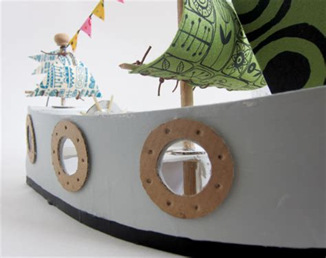 cardboard pirate ship template mollymoocrafts cardboard toys diy pirate ship