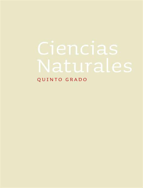 libro de cn de 5to grado ciencias naturales 5to grado by rar 225 muri issuu