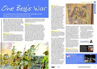 one boys war one boy s war picture book activities primary ks2 teaching resource scholastic