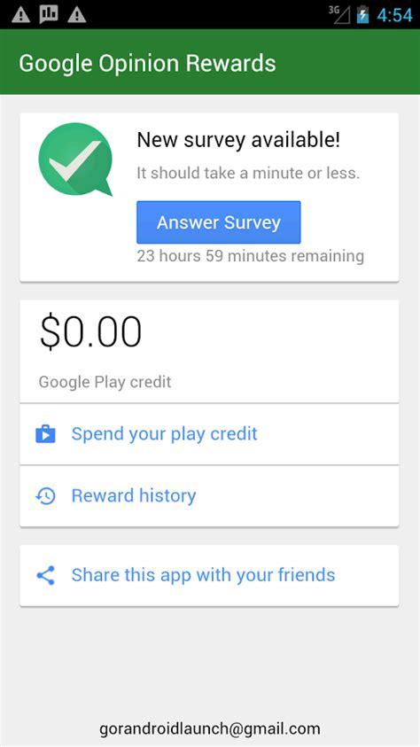 opinion rewards apk نرم افزار دریافت اعتبار از گوگل پلی opinion rewards اندروید