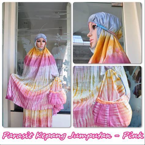 Mukena Parasit Abaya Premium jual mukena parasit traveling jumputan pink motif cantik
