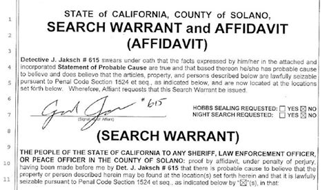 California Search Warrant Los Angeles County California Warrant Search