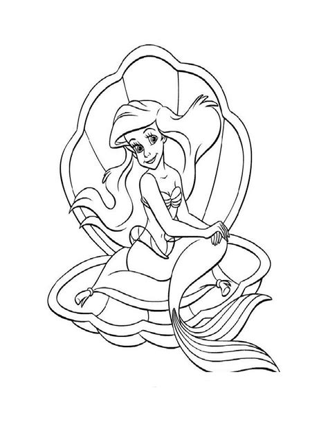 ausmalbilder malvorlagen arielle die meerjungfrau arielle
