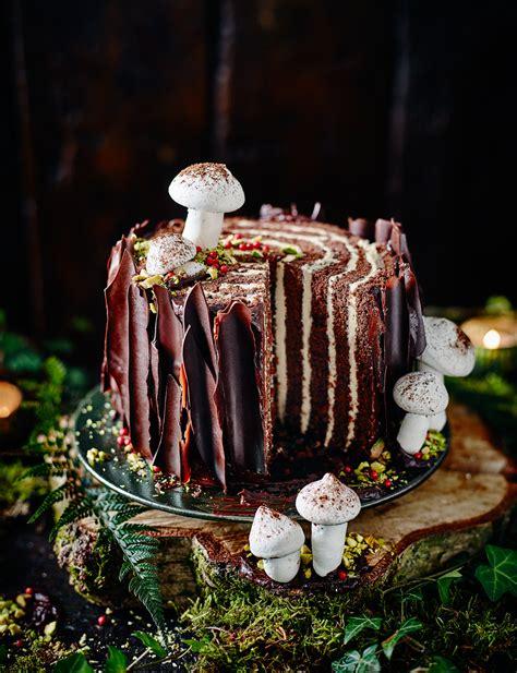 tree stump cake sainsburys magazine