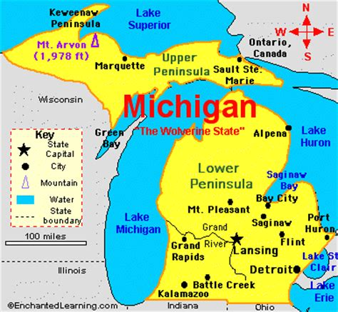 map of usa showing michigan state churches of in michigan cities a thru j