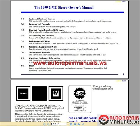 car owners manuals free downloads 1999 gmc ev1 electronic toll collection gmc truck sierra 1999 owner s manual auto repair manual forum heavy equipment forums