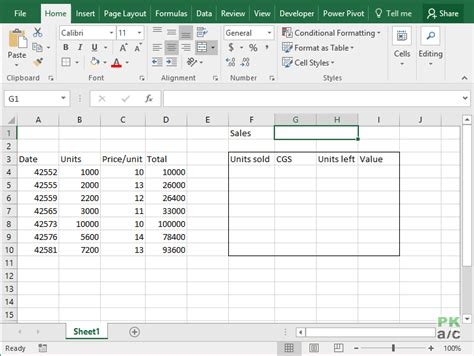 Excel Data Tables by Fifo Inventory Valuation In Excel Using Data Tables