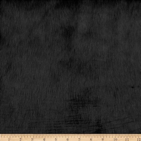 Fur Upholstery Fabric by Shannon Faux Fur Solid Mink Faux Fur Black Discount