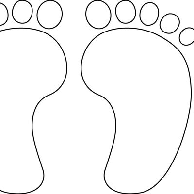 coloring pages of baby feet best photos of baby footprint coloring pages free