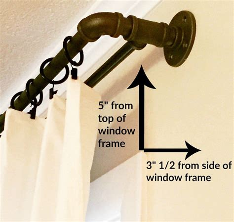 conduit curtain rod diy double industrial conduit curtain rod window house