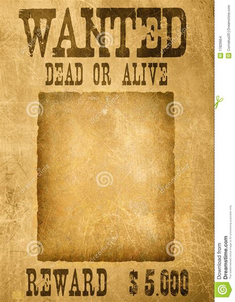 Or For Free Wanted Poster Stock Illustration Illustration Of Backgrounds 17829954