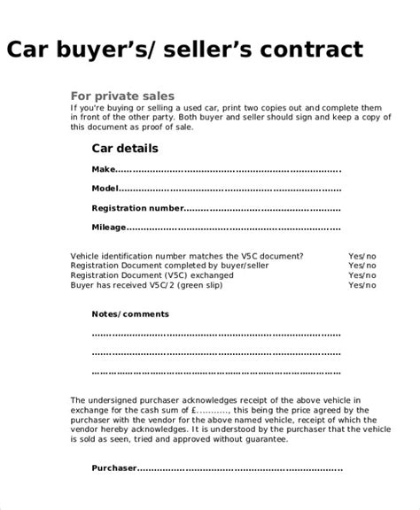 Agreement Letter To Buy A Car 9 purchase agreement sle free sles exles format